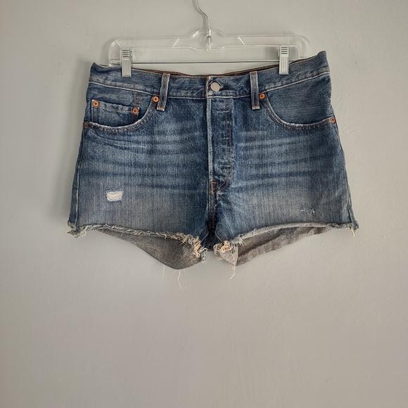 Levi's Cut Off Distressed Denim Shorts Size 29